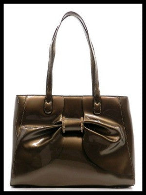 Bow Accent Patent Handbag