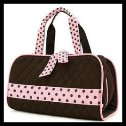 Quilted 3PC Cosmetic Case