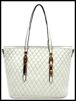 Quilted Signature Buckle Tote