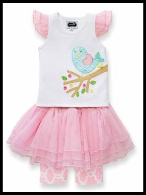 Little Chick Skirt Set By Mud Pie