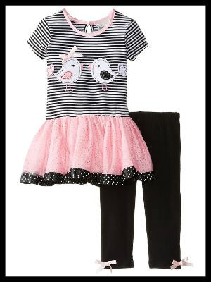 Sweet Chicks Applique Tutu/Legging Set