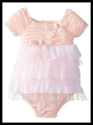 Sweet Heart Rose Ruffled Romper