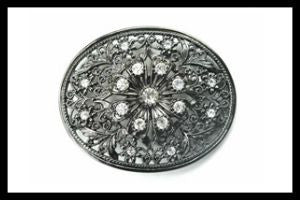 Rhinestone Flower Buckle-Clear