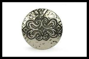 Round Engraved Flower Buckle