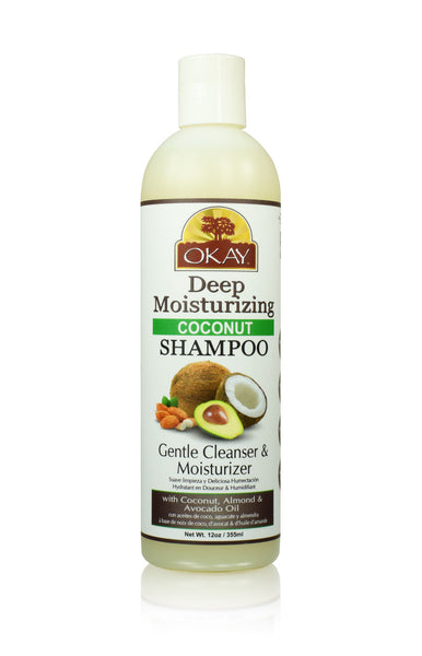 OKAY Deep Moisturizing Coconut Shampoo 12 oz