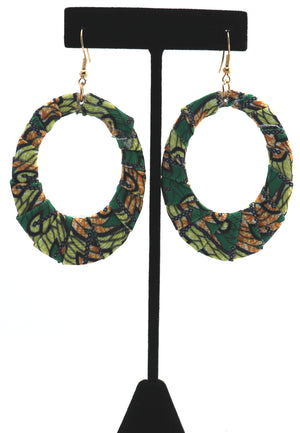 African Print Oval Hoops 1