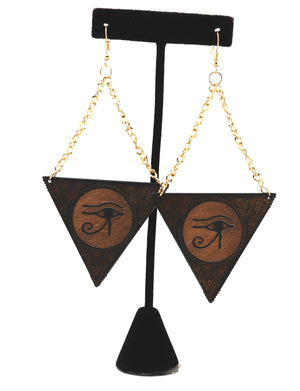 Eye of Ra Pyramid Earrings