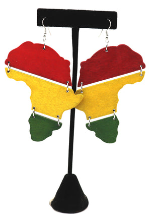 Africa Tri-Fold Earrings