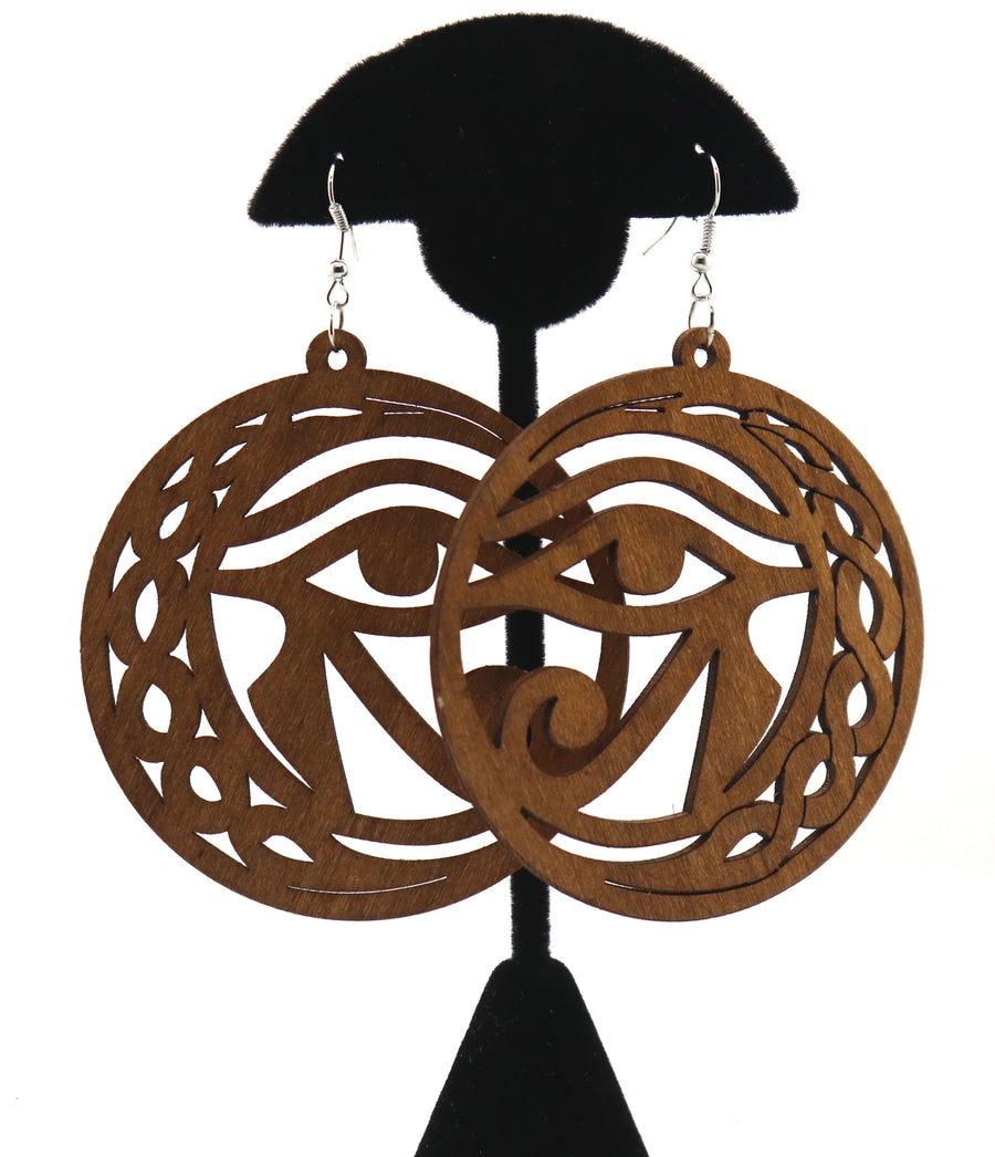 Eye of Ra Circle Earrings