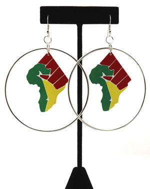 BLM Fist Hoops Earrings