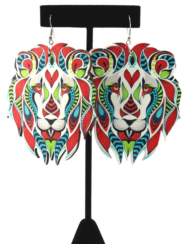 Colorful Lion Earrings