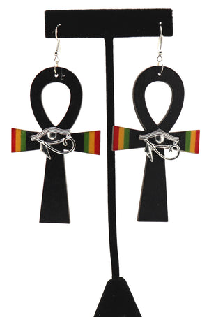 Ra's Ankh 1 Earrings