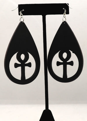 Ankh Teardrop Earrings