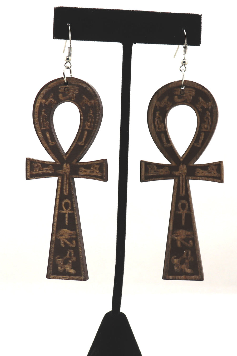 Ankh Engraved Earrings