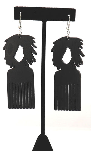 Natural Locs Comb Earrings
