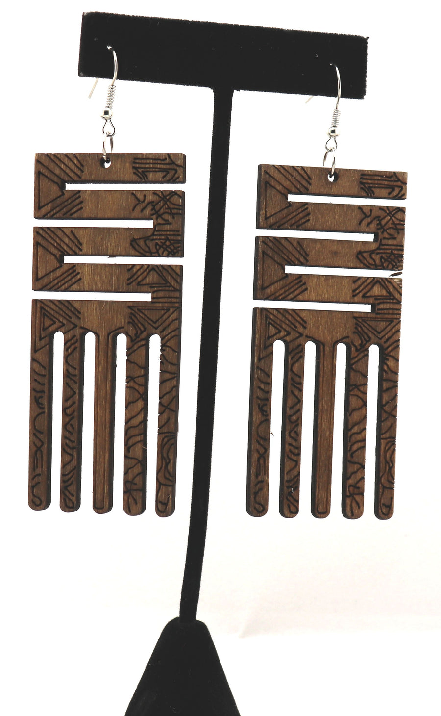 Adinkra Comb 1 Earrings