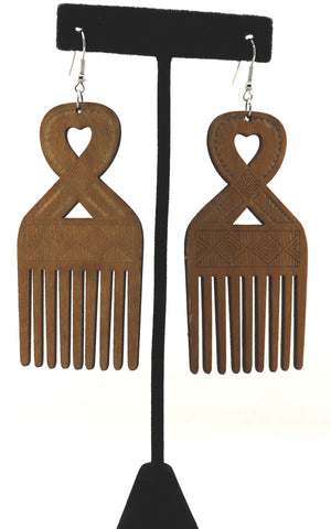 Heart Comb 1 Earrings