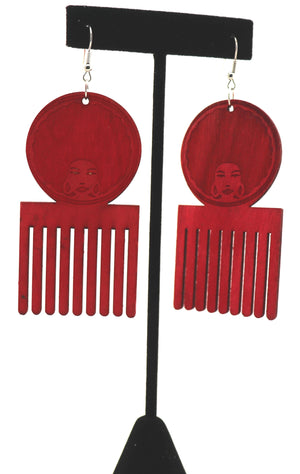 Pretty Afro Combs Earrings