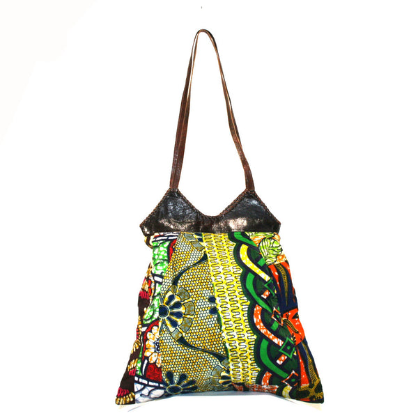 Shoulder Bag - African wax patchwork print
