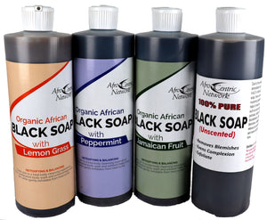 100% Black Soap Body Wash