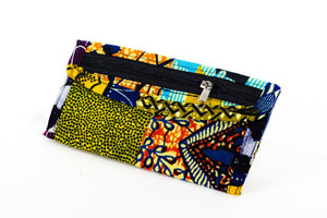 Patchwork African Print Make-Up Bag 1