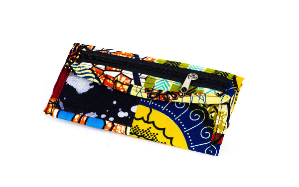 Patchwork African Print Make Up Bag
