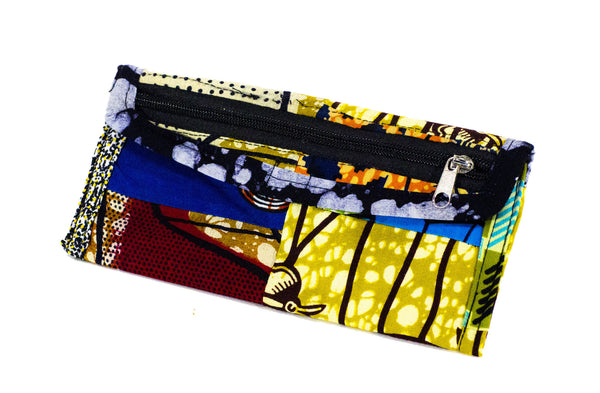 Patchwork African Print Make-Up Bag 3
