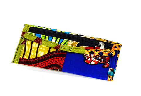 Patchwork African Print Make-Up Bag 9