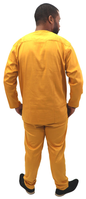 Mens 2 Pc. Long Sleeve Pants Suit - 01