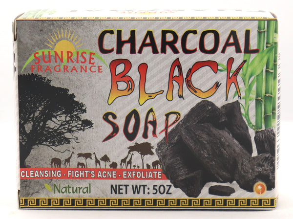 Charcoal Black Soap - Sunrise Fragrance