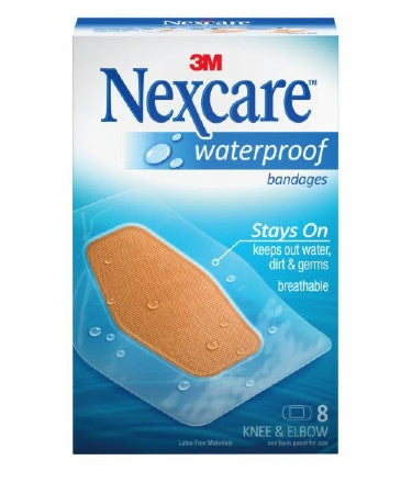 3M 581-08 Nexcare Waterproof Bandages, Knee and Elbow