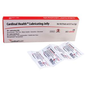 CARDINAL HEALTH ZRLJ33107 Lubricating Jelly 3g Foil Packet