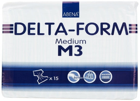ABENA 308872 Delta-Form M3 Medium Disposable Brief (CS)