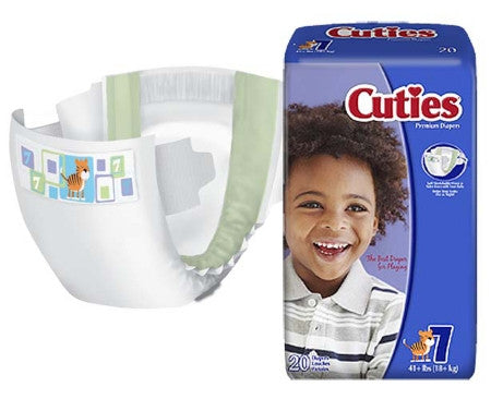 FIRST QUALITY CRD701 Cuties Baby Diaper - Size 7 (PK)