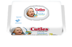 FIRST QUALITY CR-16413/3 Cuties Disposable Baby Wipes (PK)