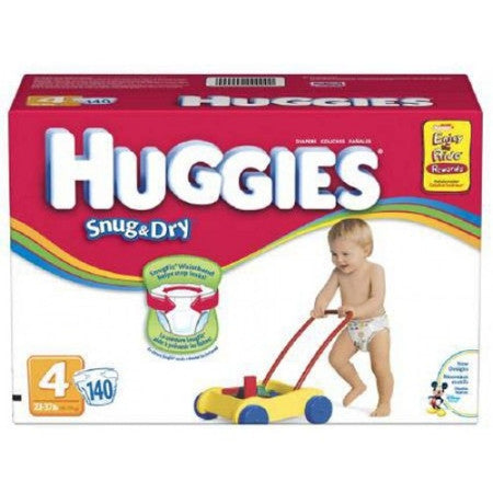 KIMBERLY CLARK 10518 Huggies Baby Diaper Size 4, 22 - 37 lbs. (CS)