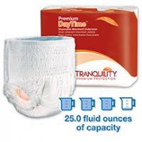 PBE 2105 Tranquility Premium DayTime Disposable Absorbent Underwear Medium (CS)