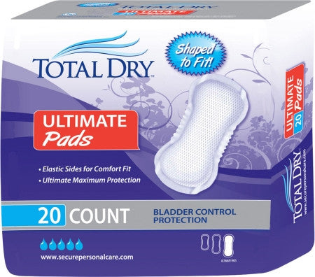 SECURE PERSONAL CARE SP1596 TotalDry Ultimate Pads (BG)