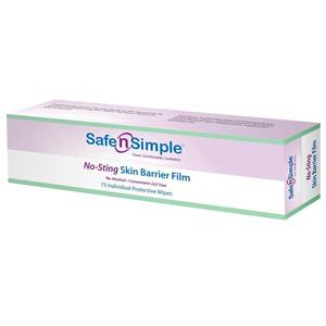 SAFE N SIMPLE SNS80775 No-Sting Skin Barrier Film, Individual Wipes, 2x2