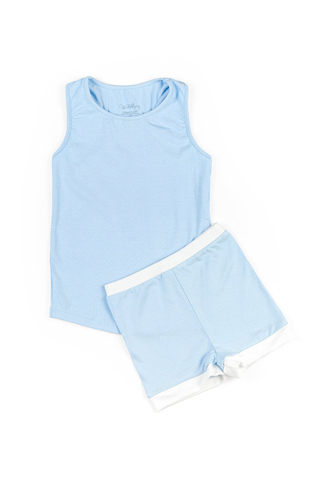 Simply Sleep: Blue Wish Racerback Set