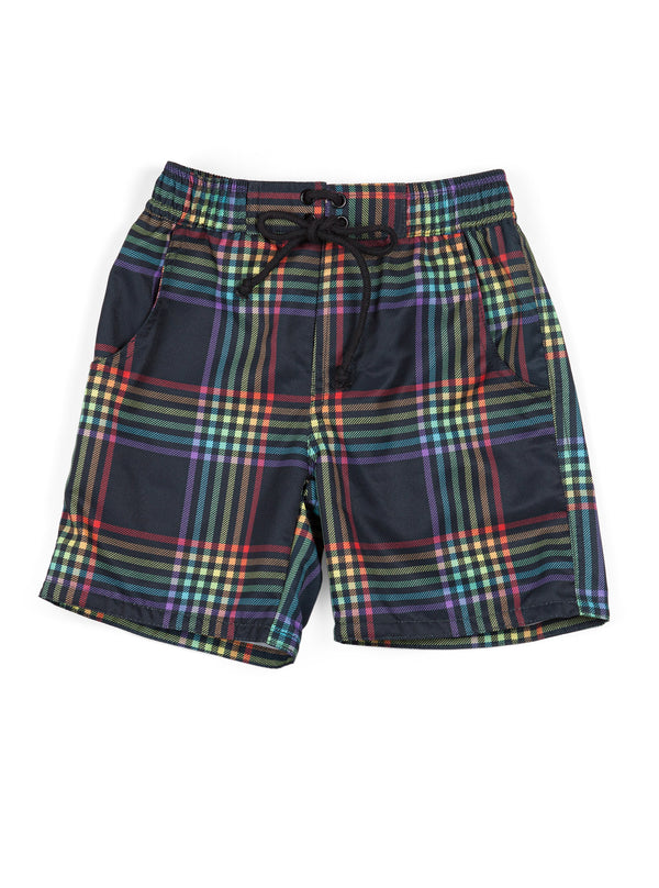 Rainbow Tartan Board Short