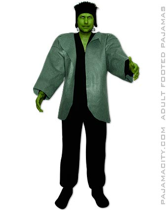 Diy Frankenstein Halloween Costume Using Footed Pajamas