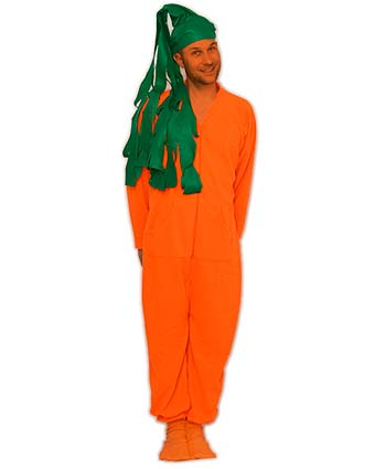 DIY Carrot Halloween Costume Idea Using Footed Pajamas ...