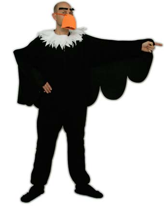 Diy bald eagle halloween costume using footed pajamas pajama city this is an easy to make no sew costume right at home solutioingenieria Image collections