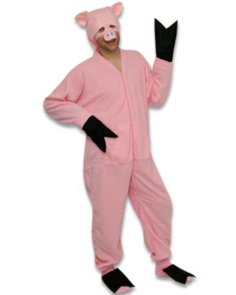11ccb6c885dc DIY Pig Halloween Costume Idea Using Footed Pajamas – PajamaCity