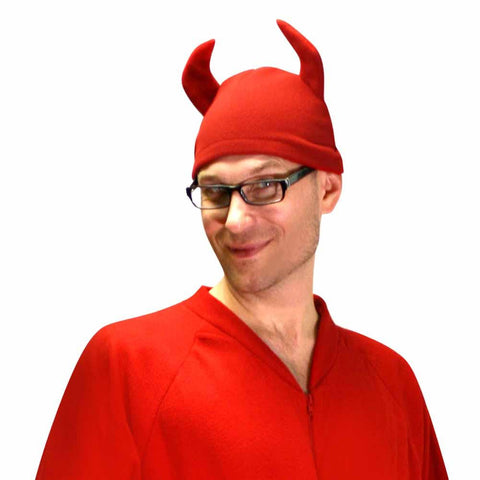Fleece Devil Hat with Horns Accessory - CLOSEOUT