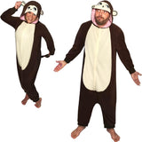 Kigurumi Monkey Costume Pajama with Hood