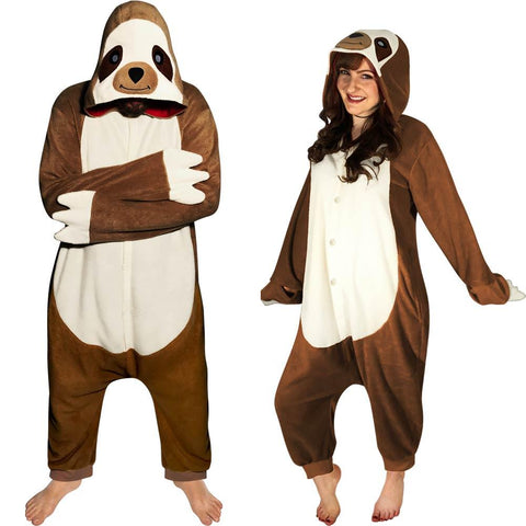 Kigurumi Sloth Costume Pajama with Hood