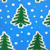 Christmas Trees and Snow Adult Footed Pajamas with Drop Seat
