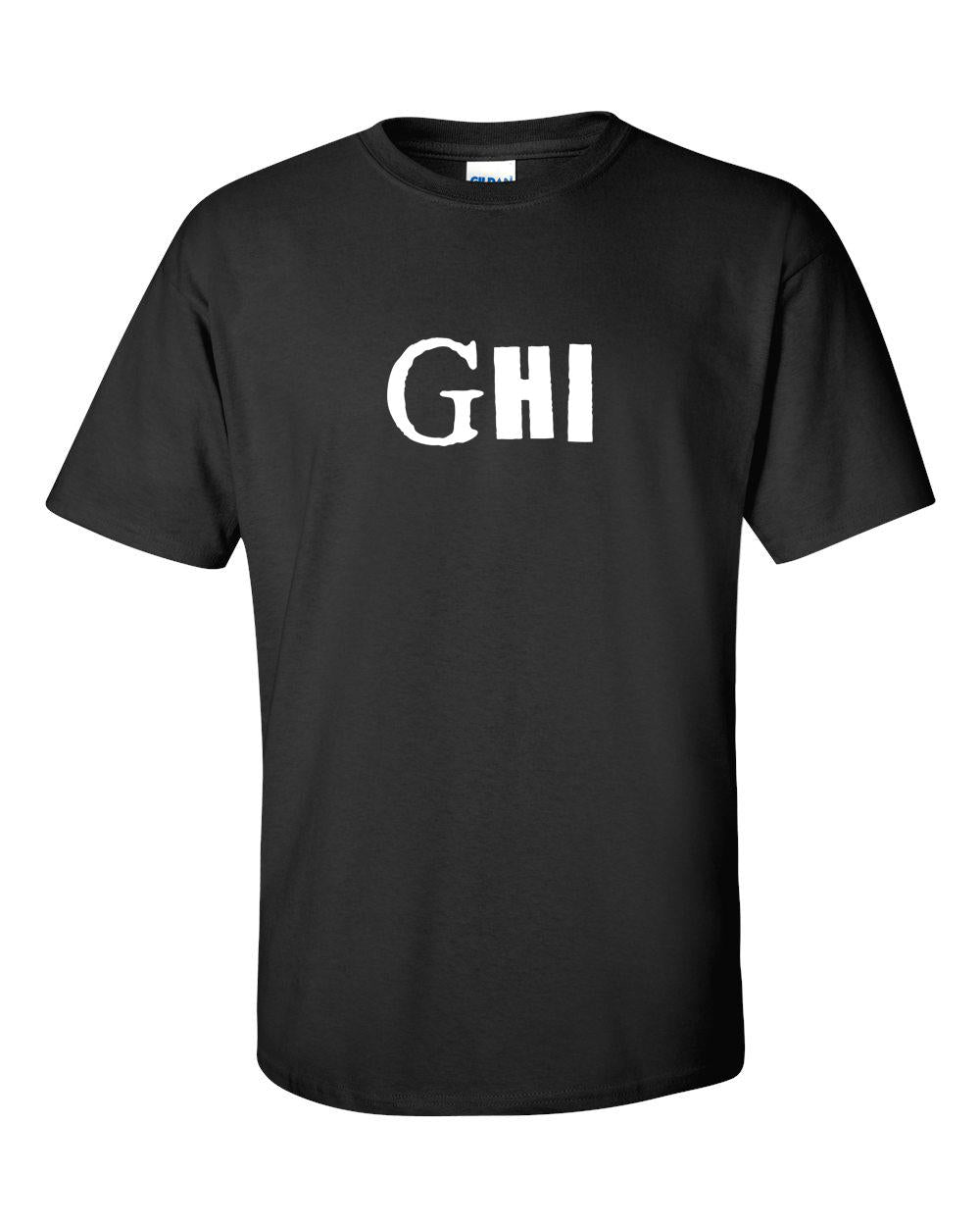 GHI T-Shirt Black - White Print